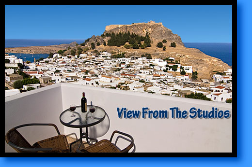 View From Lindos Panorama